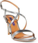 Ralph Lauren Arissa Metallic Leather Sandal