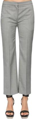 Alexander McQueen Straight Leg Cool Wool Crop Pants