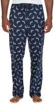 Nautica Lightweight Sueded Knit Dolphin Print Sleep Pants