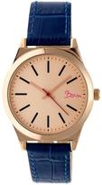 Boum Energie BOUBM4506 Women's Rose Gold and Blue Leather Analog Watch