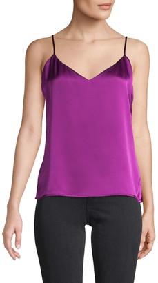 L'Agence V-Neck Silk Camisole