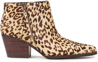 Sam Edelman Walden Leopard-print Calf Hair Ankle Boots