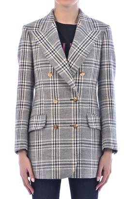 Gucci Checked Double Breasted Blazer