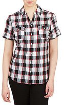 Allison Daley Plaid Button-Front Shirt