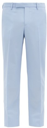 Paul Smith Soho Wool And Mohair-blend Suit Trousers - Mens - Light Blue