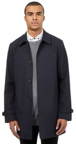 Red Herring Navy Checked Print Mac Coat