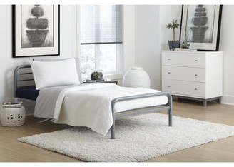 DHP Metal Twin Bed, Multiple Colors - Silver