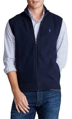 Polo Ralph Lauren Cotton Zip Sweater Vest