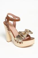 RED Valentino Gold Glitter Sandal