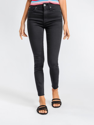 Articles of Society Sarah High Rise Skinny Jeans in Black Denim