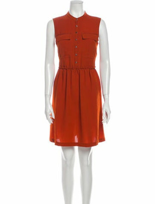 Burberry Crew Neck Mini Dress Orange