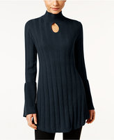 Style&Co. Style & Co. Mock-Neck Keyhole Tunic Sweater, Only at Macy's