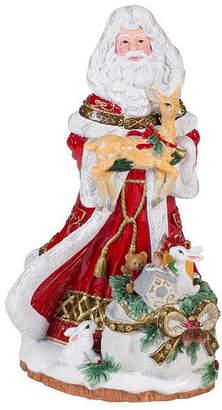 Fitz & Floyd Yuletide Holiday Santa Musical Figurine-Joy to the World