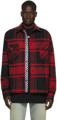Off-White SSENSE Exclusive Black and Red Stencil Shirt