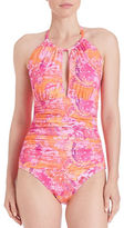 Lauren Ralph Lauren High Neck One-Piece Swimsuit