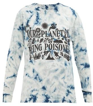 Story mfg. Grateful Tie-dye Organic-cotton T-shirt - Blue White