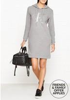 Calvin Klein Darla True Icon Hooded Long Sleeve Dress