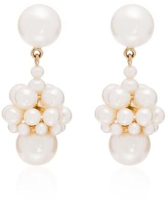Sophie Bille Brahe 14kt yellow gold Poire pearl drop earrings