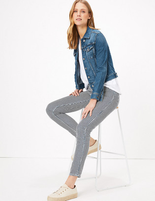 Marks and Spencer Lily Striped Slim Fit Jeans