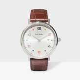 Paul Smith Men's Silver And Brown 'Gauge Colour' Watch