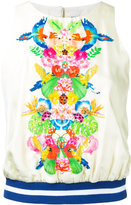 Manish Arora tropical print tank top - women - Silk/Polyester - 36
