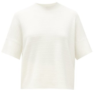 Barrie Stripe-stitched Cashmere Sweater - White