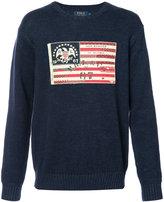 Polo Ralph Lauren flag patch jumper - men - Cotton - M