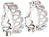 Boucheron Diamond Swirl Hoop Earrings