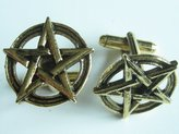 Classic Cufflinks LLC pentagram 24k gold cufflinks by classic cufflinks
