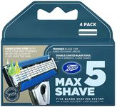 Boots Max Shave 5 Five Blade Shaving System Refill 4 Pack