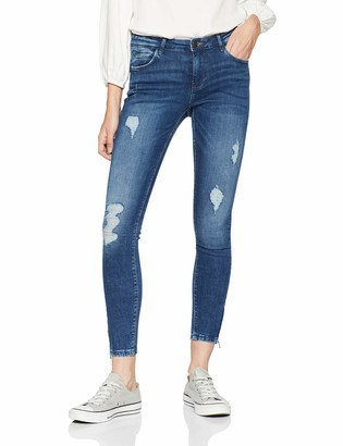Noisy May Women's Nmkimmy Nw Ankle Zip Jeans Az003mb Noos Skinny