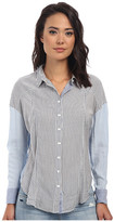 Free People Rayon Oxford Stripe Captetown Button Down
