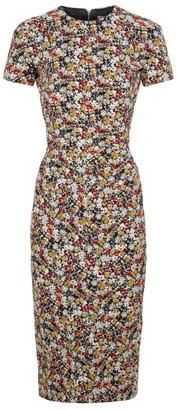 Victoria Beckham Jacquard Floral Shift Dress