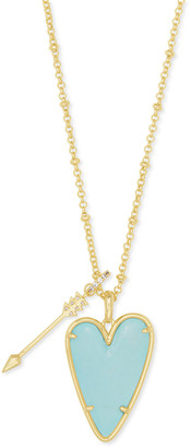 Kendra Scott Ansley Long Heart Pendant Necklace