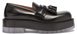Bottega Veneta Stilt Tasselled Platform Leather Loafers - Black