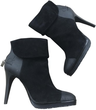 Calvin Klein Black Suede Ankle boots