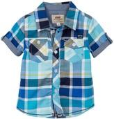 Kanz Short Sleeve Check Shirt (Toddler, Little Boys, & Big Boys)