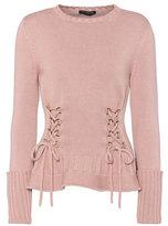 Alexander McQueen Lace-up wool sweater