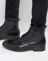 Aldo Asodda Lace Up Boots In Black Leather