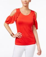 Thalia Sodi Ruffled Cold-Shoulder Top, Only at Macy's
