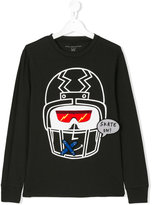 Stella McCartney Gene helmet print top - kids - Cotton/Polyester - 14 yrs