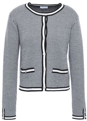 Claudie Pierlot Crystal-embellished Houndstooth Jacquard-knit Cardigan