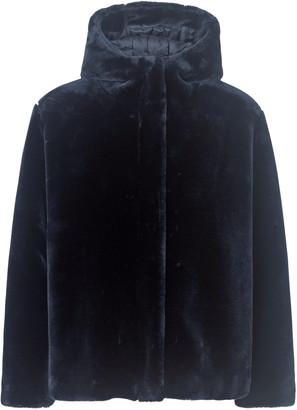 Samsoe & Samsoe Sabal Hooded Jacket - Midnight Navy - Size S (UK 10)