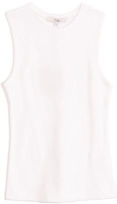 Tibi Dry Loop Terry Fitted Tank in White