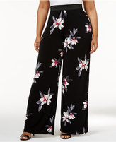 Alfani Plus Size Floral-Print Palazzo Pants, Only at Macy's