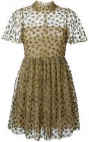 Valentino star embroidered veletta dress - women - Silk/Polyamide/Polyester/Metallic Fibre - 42