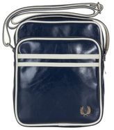 Fred Perry New Mens Blue Classic Mini Pvc / Cotton Trim Cross Body Bag Flight
