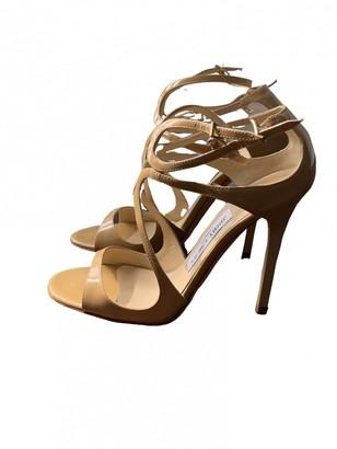 Jimmy Choo Lance Beige Patent leather Sandals