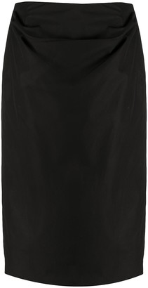 Lemaire Pleated-Side Knee-Length Skirt