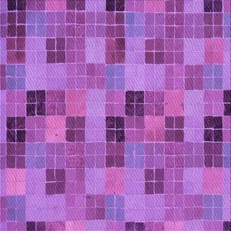 East Urban Home Geometric Wool Purple/Pink Area Rug Rug Size: Runner 2' x 5'